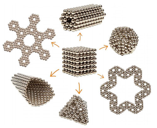 Buckyballs shapes and designs