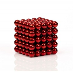 Red magnetic balls